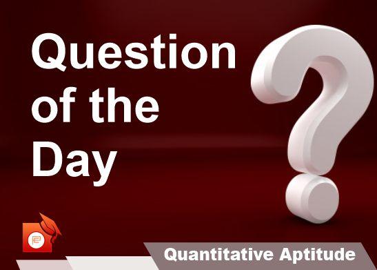 qotd quantiative aptitude percentage pendulumedu