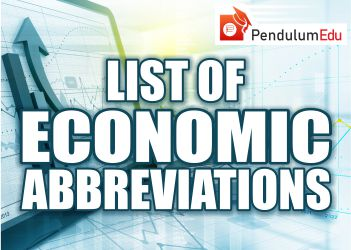 Economic Abbreviations used in Economics
