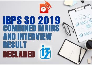 IBPS SO Final result 2019