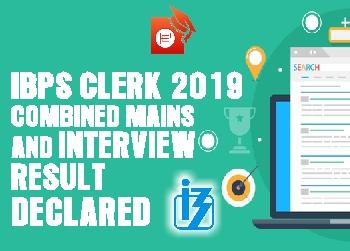 IBPS CLERK Final result 2019