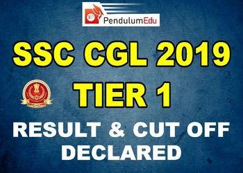 ssc cgl 2019 tier 1 result and cutoff pendulumedu