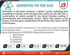 English - Fill in the blanks - 22 Jan 2020