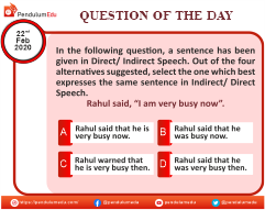 English - Direct-Indirect Speech - 22 Feb 2020