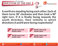 Logical Reasoning -  Distance and Direction - 24 Feb 2020