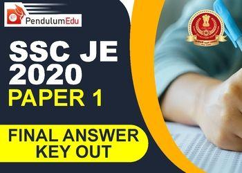 SSC JE 2020 Paper 1 Final Answer Key