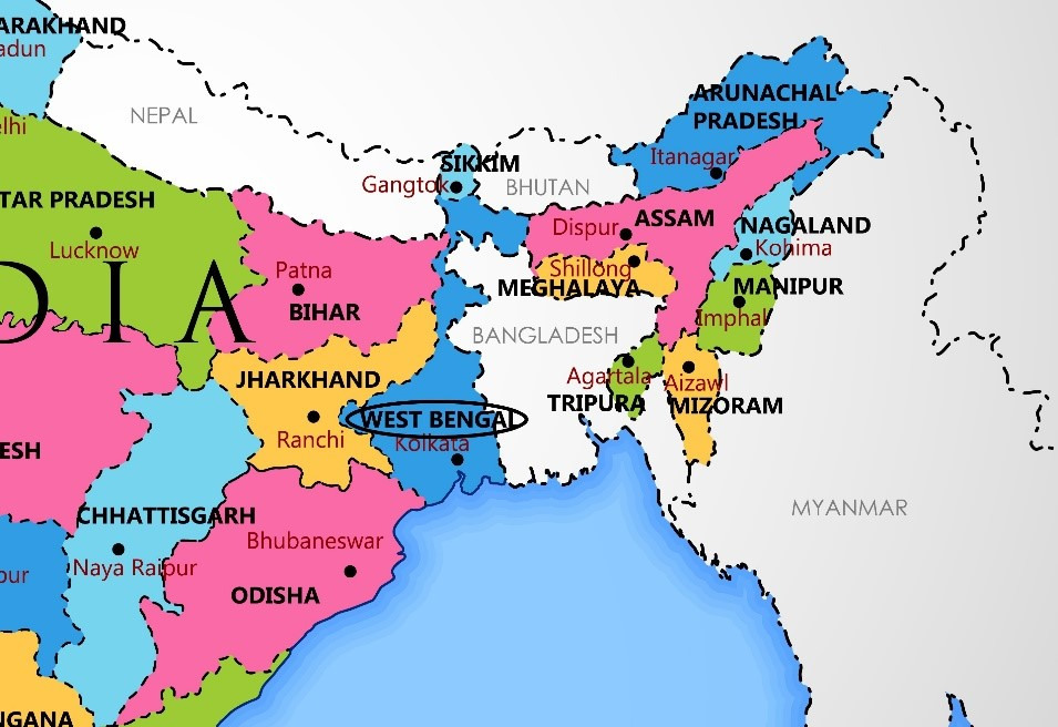 India Map West Bengal